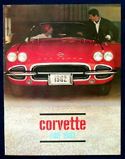 Prospekt brochure 1962 Chevrolet Chevy Corvette (USA) REPRINT