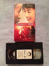 Because of You (1996) - VHS Video Tape - Drama - Saki Takaoka - Masayuki Shida