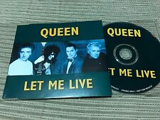 QUEEN MERCURY - LET ME IN CD SINGLE UK PARLOPHONE 96 1 TRACK PROMO
