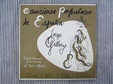 """JORGE GALLARZO ~ CANCIONES POPULARES DE ESPANA  VINYL 10"""" RECORD LP / MONTILLA"""