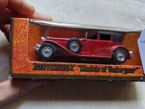 matchbox models of yesteryear 1930 model J duesenberg model car E1 228 M