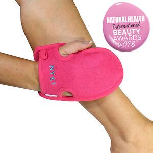 Exfoliating Body Scrub Exfoliator Glove Tan Eraser Exfoliator Mitt (Pink)