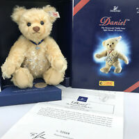 Steiff Daniel Swarovski Teddy Bear w Crystal Star 2004 Mohair 10in Box Cert LE