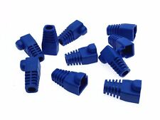 40x Ethernet Cable Connector CAT5 CAT6 RJ45 Strain Plug Cover Boot Blue