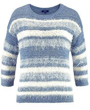 Tom Tailor Damen Pullover Effektgarn Hellblau-weiß Neugr.s