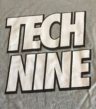 Tech Nine Medium T Shirt Gray Short Sleeve