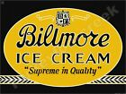 "BILTMORE ICE CREAM 9"" x 12"" METAL SIGN"