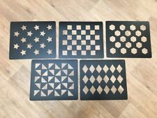 Quarter Markers Stencil Set of 5