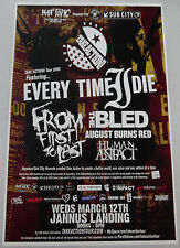 Every Time I Die From First To Last Original Concert Poster rare 2008 tour print