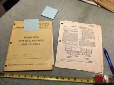 Original Military Radio Rt66 Rt67 Rt68 Vrq 1 2 3 Op/Repair Book 1951 Lot 122