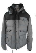 Brax Steppjacke 50 grau schwarz Herren Peak Polyamid Winterjacke wie neu Anorak