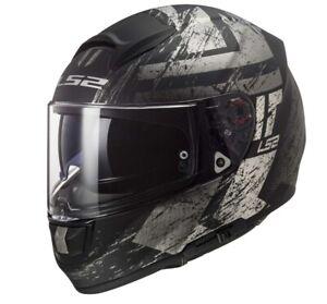 LS2 sportlicher Motorrad Integralhelm FF397 Vector Hunter schwarz matt/titan XXL