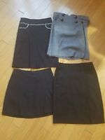 EUC womens Lot of 4 skirts various colors size S knee length