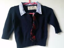 NWT Anthropologie FIELD FLOWER Blue BOYS Child's Sweater - Size 2T