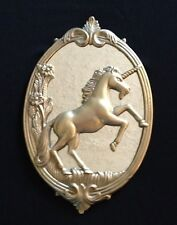 Vintage Unique Brass Unicorn Wall Mirror - Magic Mythical - Excellent Condition
