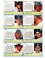 1962 Post Cereal Baseball REPRINT Uncut Sheet # 6211
