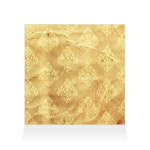 Home Decor Wall Sign Yellow and Brown Paper Style B Art Picture Frame