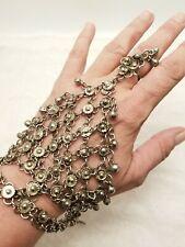 Vintage Belly Dance Hand Ring Chain Bells Bracelet Jewelry Bali Bollywood Boho
