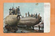 SUBMARINES OF THE US NAVY JAN 27,1913  NAVAL POSTCARD