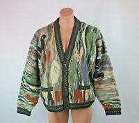VTG 90s COOGI Australia Cosby BIGGIE Cosby sweater Cardigan Hip Hop NWOT sz L
