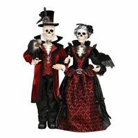 """Skeleton Couple Figurine 37"""""""