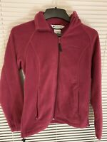 Columbia Sportswear Womens Fleece Jacket Pink Full Zip Up Size M