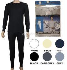 Men's Thermal Pajama 2 Piece Set 100% Cotton Comfortable Warm Sizes M-2XL New