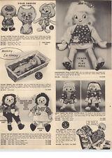 1970 PAPER AD Amsco Hansel Gretel Stuffed Dolls Matel Mrs. Beasley Drowsy Doll