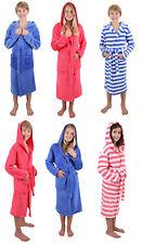 Betz Kinder Kapuzenbademantel Kids Comfort  gestreift oder Uni, blau und pink
