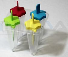Congelatore Ice Lolly Pop Stampo Maker Jelly Crema succo di ravanello per bambini 4PCS