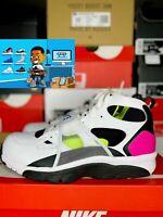 Nike Air Trainer Huarache White Black Laser Fuchsia Men's Size 11.5 679083 109