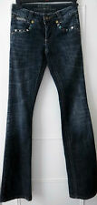 "Designer Parasuco Dark Blue Sequin Jeans Size 25"" UK8"