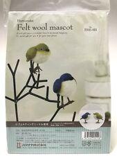 Needle Felting Kit Bird Japan Wool Tarsiger cyanurus white eye Mascot Hamanaka