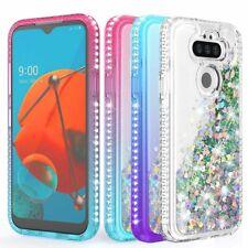 For LG Phoenix 5/Risio 4/Fortune 3/K8X Case Liquid Bling Glitter TPU Phone Cover