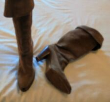 ZODIAC Vintage Light Brown Suede Western Style Boots Size 7.5 U.S. VERY NICE!