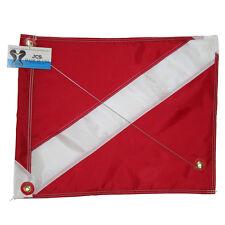 Nylon Dive Flag w/ Brass Grommets & Steel Spring Wire Stiffener, 20x24