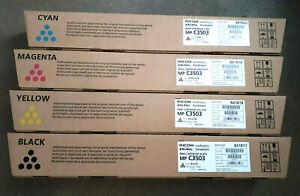 4 x Original Toner Ricoh Aficio MP C3503 C3003 C3004 C3504 / 841817 -841820 SET