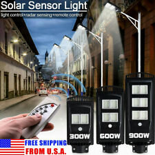 576LED 900W Solar Street Light PIR Motion Sensor Garden Outdoor Wall  H