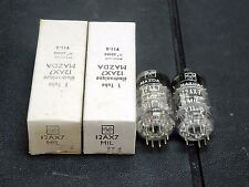 2 PIECES FRENCH CHROME PLATE MAZDA 12AX7 ECC83 AUDIO AMPLIFIER TUBE