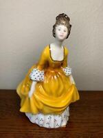 Royal Doulton Lady Figure 'Coralie' HN2307 Hand Painted Yellow Dress Model 19cm