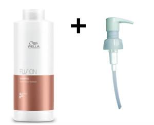 Wella Professionals Fusion Shampoo 1000ml 1L with 1L Pump FREE P&P