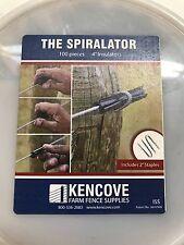 "Spiral Tube Insulator 4"" 100 pk with Staples"