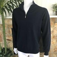 Pierre Balmain VTG Men's Navy Blue LS Pullover 1/4 Zip Wool Sweater Sz 52 ITALY