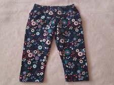 Pumpkin Patch Gorgeous Little Girls Flower Print Pants/Leggings, Size 0-3 Months