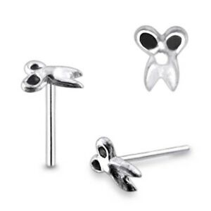 5 Pieces 22G 9mm 925 Sterling Silver 2mm Scissor Nose Straight Stud Piercing Jew