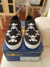 Pom d'api Boys Slip On Shoes Sculls Size 2.5 Eu 35