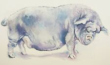 Pig Painting - original watercolour - farm house animal art