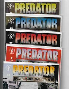 Predator: Race War #0, 1-4 complete mini-series // Dark Horse Comics