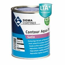 SIGMA COATINGS CONTOUR AQUA PU SATIN- 2,5 lt - QUALSIASI COLORE-SMALTO ALL'ACQUA