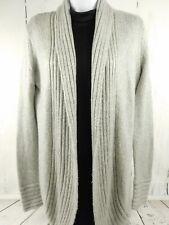 Kenar Womens Gray Long Sleeve Angora Blend Open Front Fall Winter Sweater Small